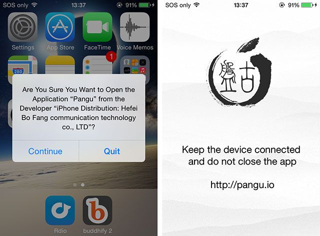 How To Jailbreak iOS 7.1.x & Install Cydia With Pangu panguapp