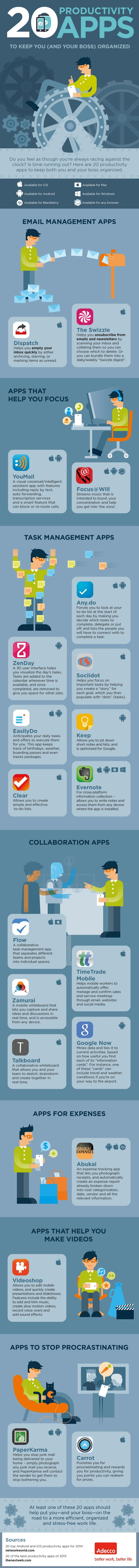 20 Productivity Apps To Keep You And Your Boss Organised productivity apps