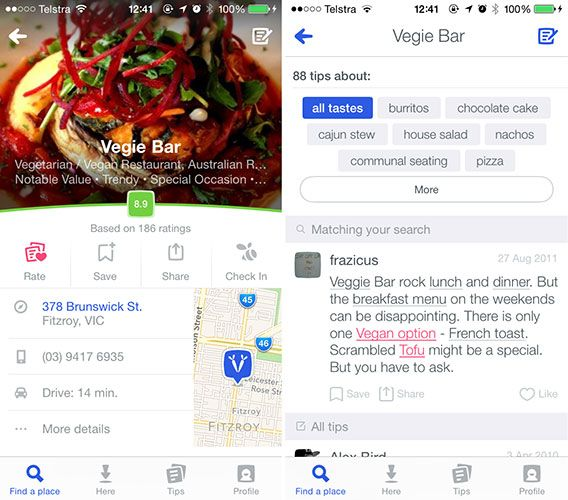 Foursquare Relaunches As Discovery Tool Based On Your Tastes 4sq venue