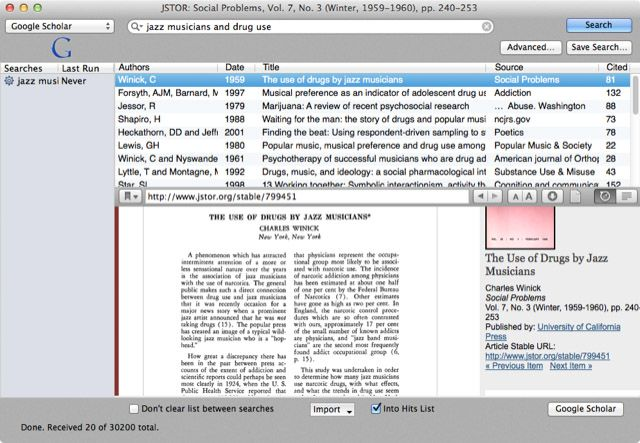 Creating Bibliographies & Footnote Citations Is Easier With Bookends for Mac Bookends broweser