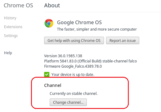 Chrome-release-channel