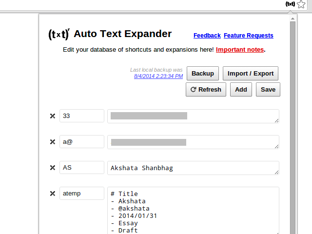 auto-text-expander-chrome-extension