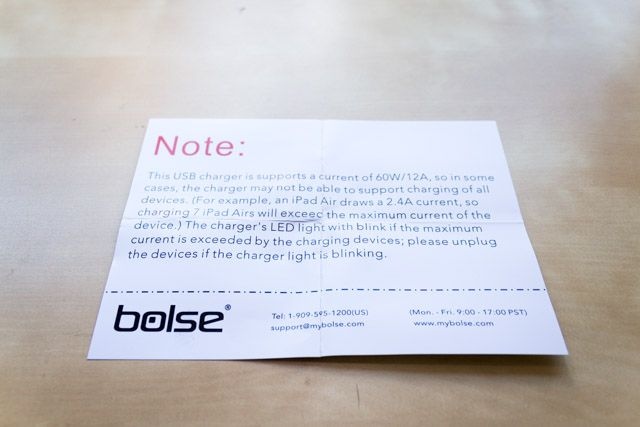 bolse 7-port charger - warning