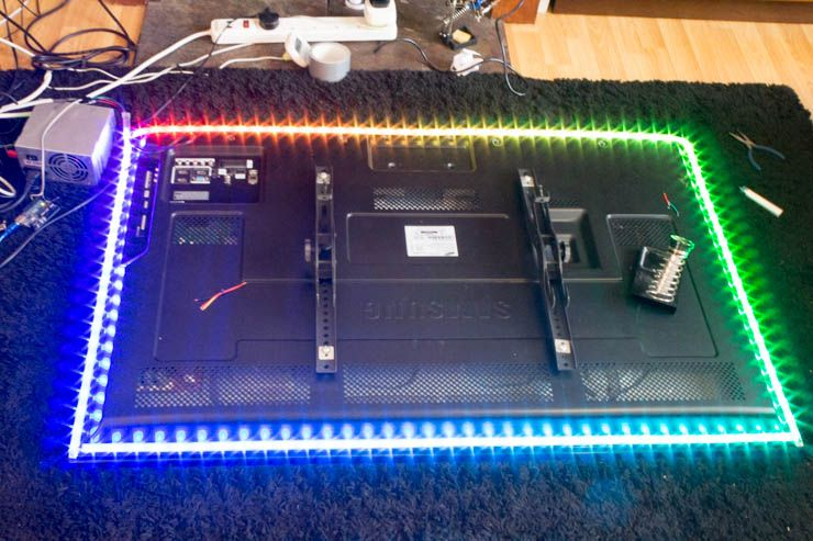 diy ambient lighting. Make Your Own Ambilight For $60 Diy Test Ambient Lighting