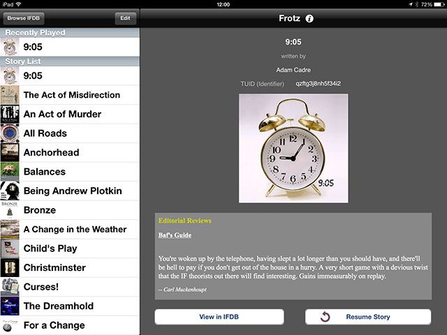 Love Interactive Fiction? Fill Your iPad Or iPhone With Text Adventures frotz