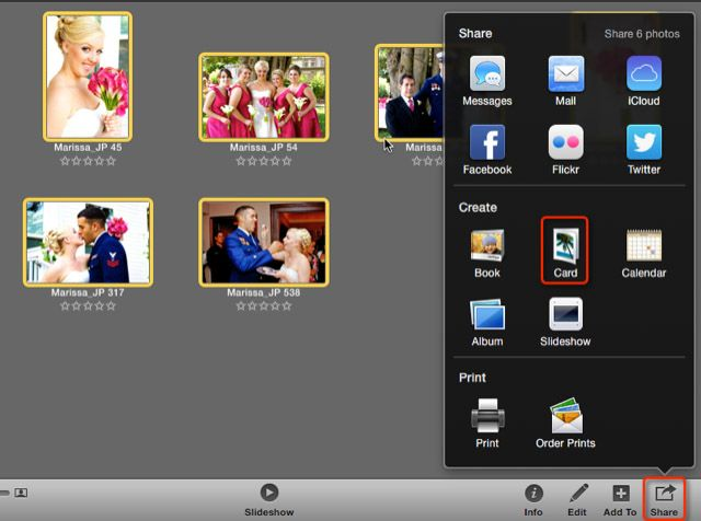 Reminder you can make greeting cards with iphoto creating a card m4hsunfo