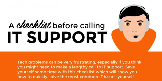 Run Through This Checklist Before Calling IT Support