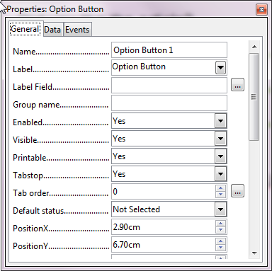 How To Make Free PDF Forms With LibreOffice Draw option button default properties