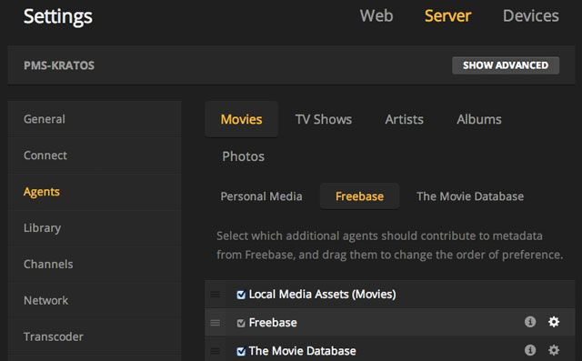 plex-settings-freebase-agent