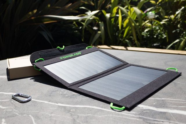 Poweradd 14W Portable Solar Charger Review and Giveaway poweradd 14w solar charger review 1