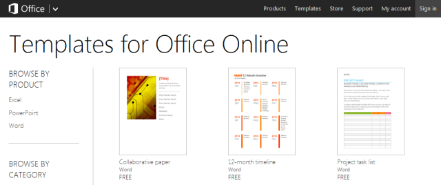ms online templates