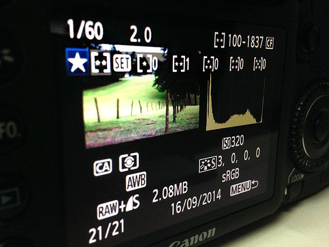 DSLR In-Camera Image Rating