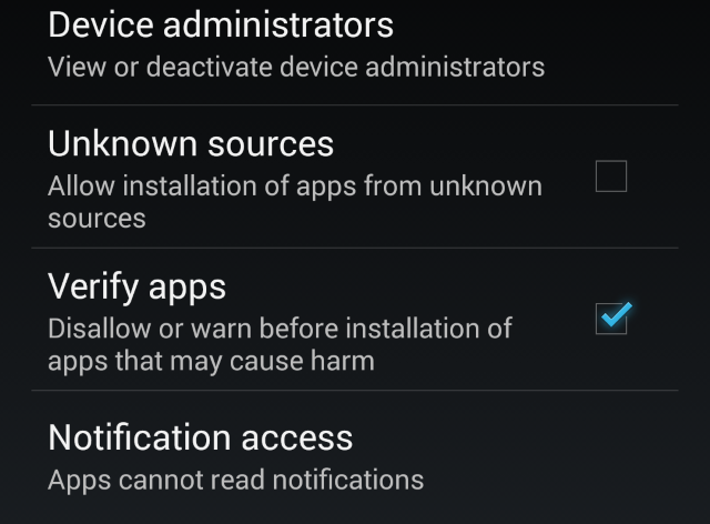 Verify Apps in Android