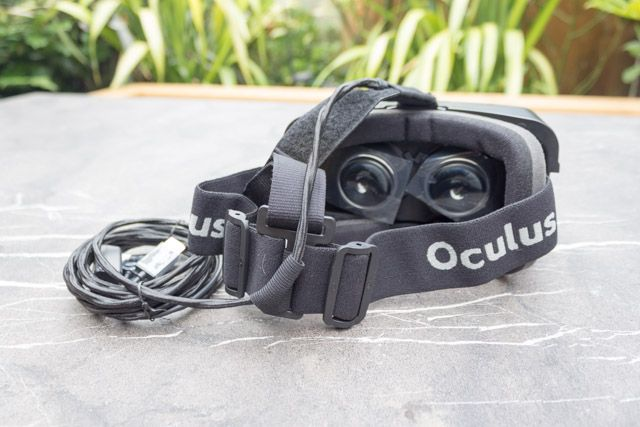 oculus rift development kit 2 - headset strap and cable position