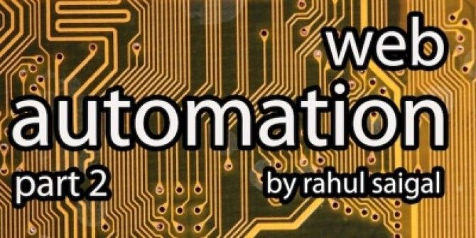 "The ""Automation"" Guide for Web [Part 2]"