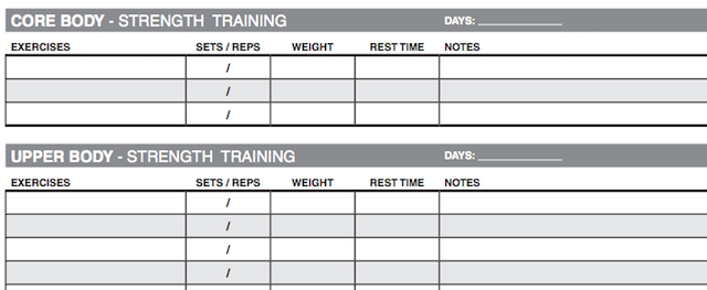 workout spreadsheet template excel