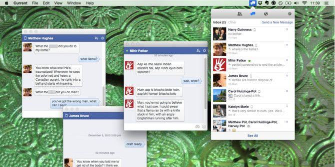 Chat Outside The Browser With Current, A Facebook App For Mac