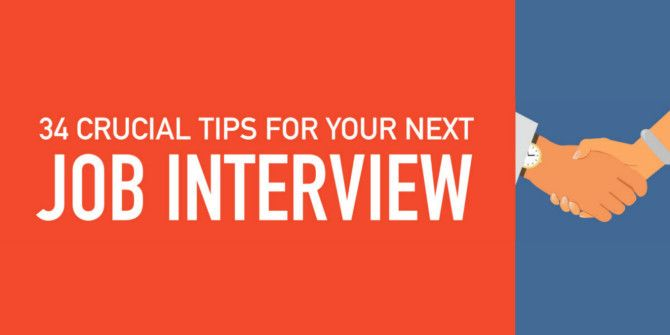 34 Tips To Help You Ace Your Next Job Interview
