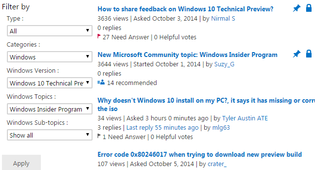 Why the windows 10 technical preview should not be your main os microsoft community forum ccuart Gallery