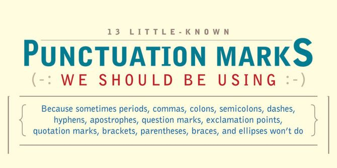 Little-Known Punctuation Marks That Need To Make A Comeback