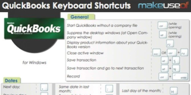 QuickBooks Keyboard Shortcuts (Windows)
