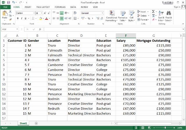 example excel 2013 worksheet
