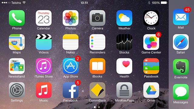 iPhone 6 Plus Review and Giveaway homescreen landscape small
