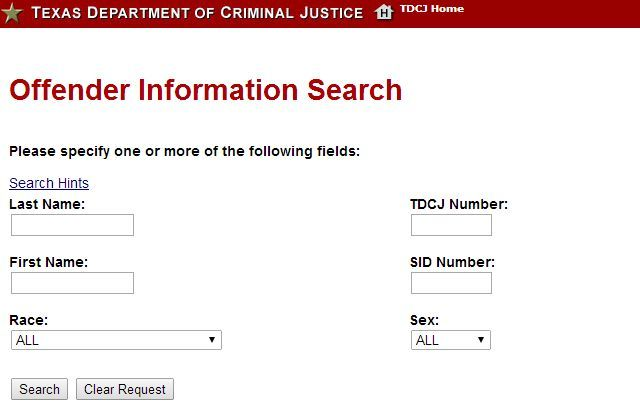 Tdcj Offender And Inmate Search – Desenhos Para Colorir