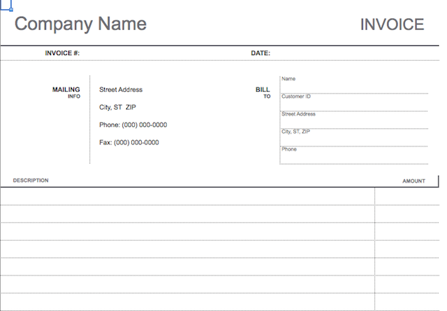 Simple Customizable Invoice Templates Every Freelancer Should Use - Client invoice template