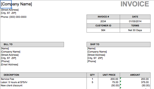 Simple Customizable Invoice Templates Every Freelancer Should Use - Website invoice template