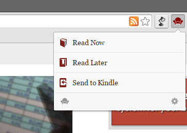 1 Readability Extension Menu