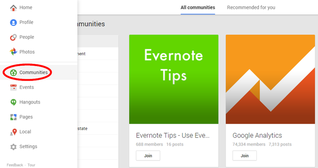 4 Google Plus Communities