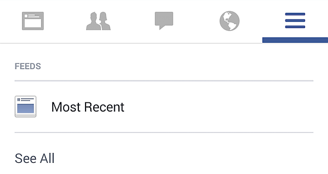 Android Facebook Most Recent