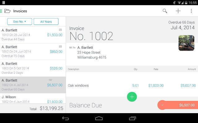 FreelanceSmallBusiness-Invoice2Go-Screenshot