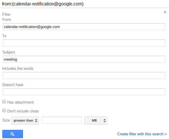 Gmail Filter From Google Calendar