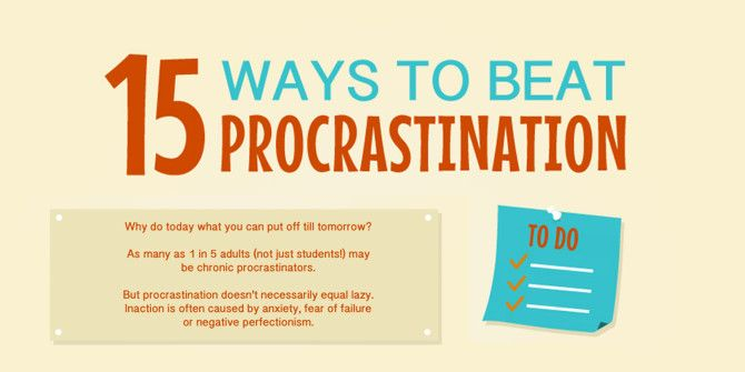 15 Ways To Beat Procrastination