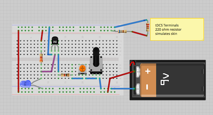 Zap Yourself Smarter With This DIY tDCS Brain Stimulator TDCS circuit diagram