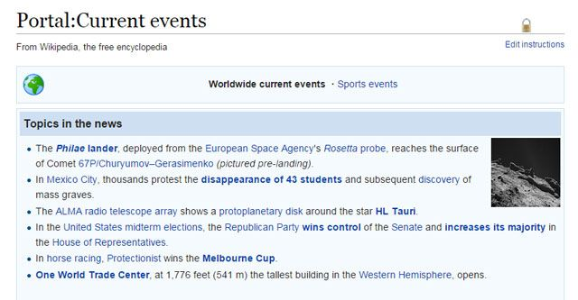 Wikipedia-Current Events