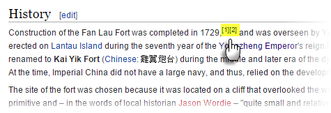 Wikipedia Footnote