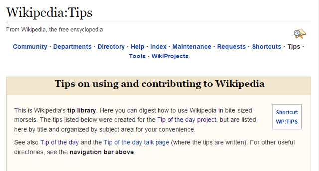 Wikipedia Tip Library