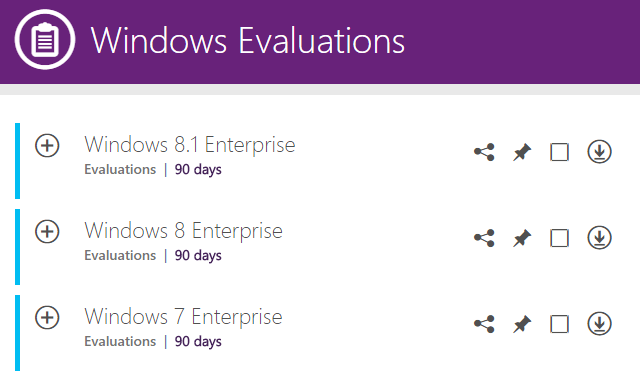 Windows Evaluations