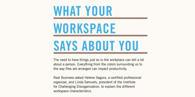 What Does Your Workspace Say About You?