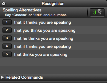 Control Your Mac With Voice Commands & Better Dictation In OS X Yosemite dragon dictate recognition window