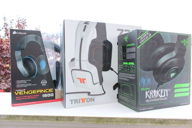 gaming headsets boxed
