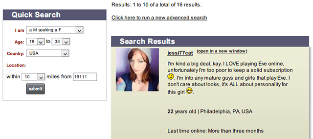 Example of personal ad for dating