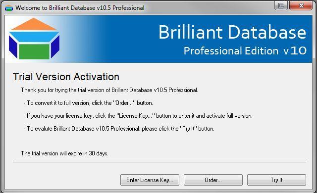 Brilliant Database Trial Ed