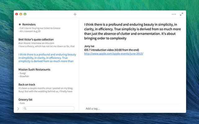The Best Mac Apps simplenote