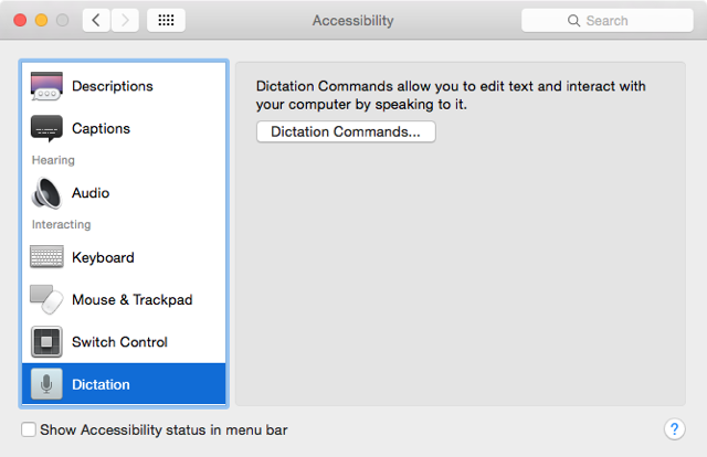 Control Your Mac With Voice Commands & Better Dictation In OS X Yosemite voice dictation preferences