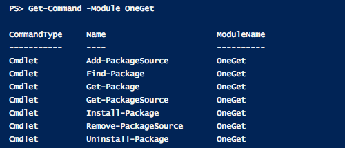 windows-oneget-package-manager-cmdlets