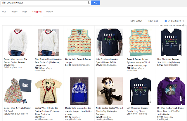 Fifth Doctor Sweater - Google Shopping